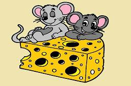 Myszy i kawałek sera