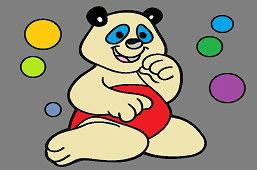 Niedźwiedź i bańki mydlane