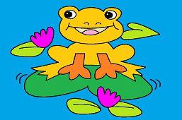 Żaba na lilii wodnej