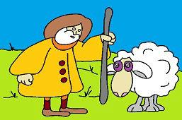 Pasterz i owca