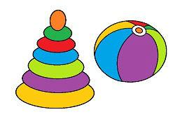 Drzewo zabawka i balon