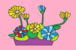Doniczka z kwiatami