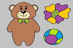 Niedźwiedź i kwiatuszek