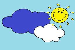 Słońce w chmurach