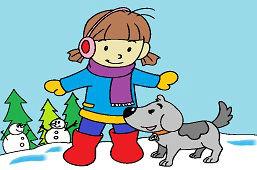 Mała dziewczynka i pies
