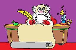 Święty Mikołaj w biurze