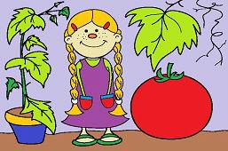 Dziewczynka pomidorek