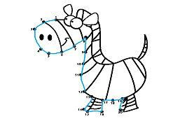 Połącz kropki – Zebra