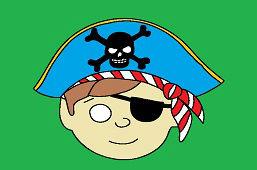 Maska karnawałowa – Pirat