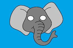 Maska karnawałowa – Słoń