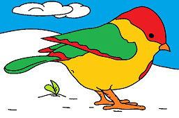 Ptaszek w zimie