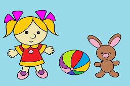 Dziewczynka i króliczek