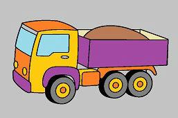 Ciężarówka z piaskiem