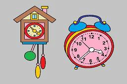 Budzik i zegar z kukułką