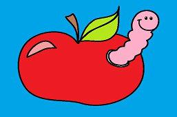 Jabłko z robakiem
