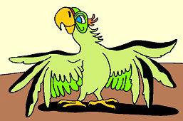 Papuga Ara Zielona