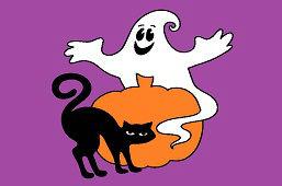 Czarny kot i duch