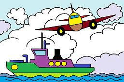Samolot i statek