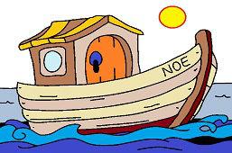 Arka Noego na morzu
