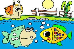 Ślimak i ryby