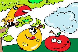 Owoce pod drzewem