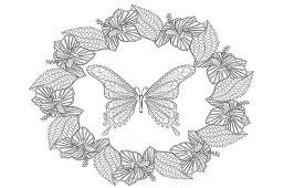 Motyl w wieńcu
