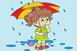 Dziewczynka w deszczu