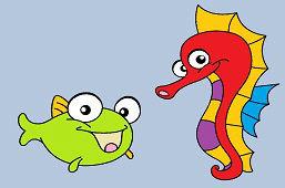 Pławikonik i ryba