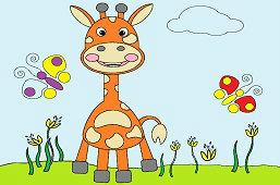 Żyrafa na łące