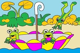 Żabki w parasolu
