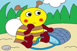 Pszczółka z koszykiem