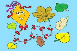 Latawiec z liśćmi