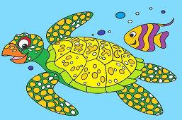 Żółw i ryba