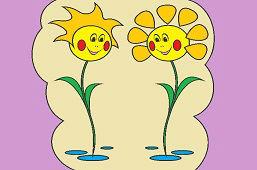 Siostry kwiaty margaretki