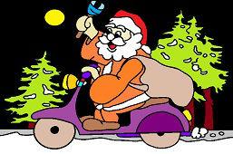 Święty Mikołaj na motocyklu