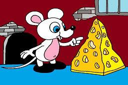 Mysz i kawałek sera.