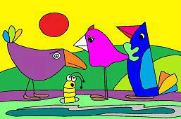 Ptaki i robak