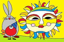 Kolorowe słońce