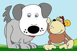 Piesek i małpka