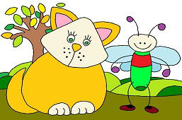 Kot i mała muszka