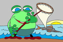 Żaba wędkuje