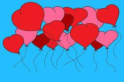 Sercowe balony