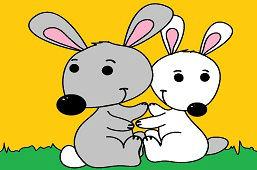 Szara i biała myszka