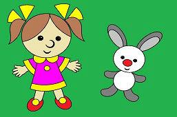 Lalka i króliczek