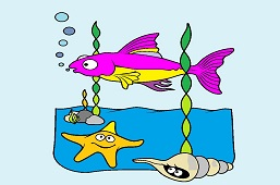 Ryba głęboko w morzu