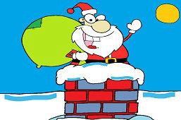 Święty Mikołaj w kominie