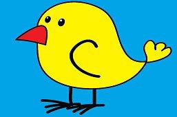 Ptak z czerwonym dziobem