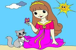 Dziewczynka z motylem
