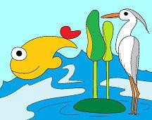 Czapla i ryba