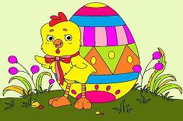 Pisklę z jajkiem